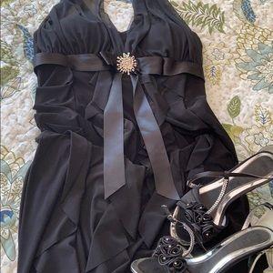 Laura long black dress